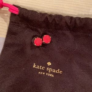 Kate Spade Pink Gumdrop Stud Earrings
